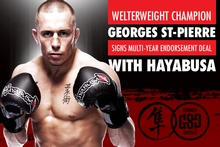 Georges St-Pierre Signs Multi-Year Endorsement Deal With Hayabusa